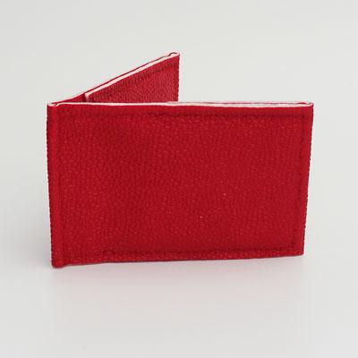 Porte-cartes sécurisé végan perlé rouge