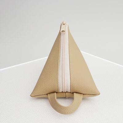 Berlingot range-clefs, végan, grainé beige