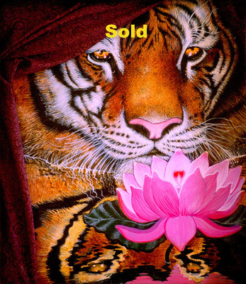 The Tiger and the Lotus/ $3,000/ sold