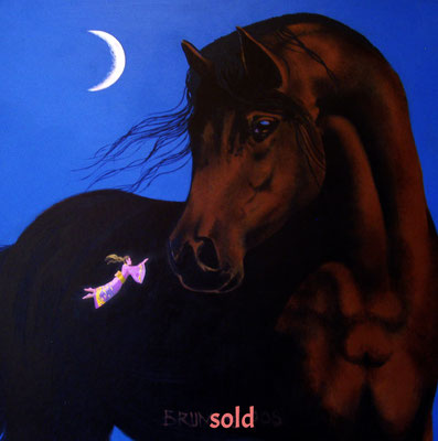 The Horse and the Japanese Princess/ sold