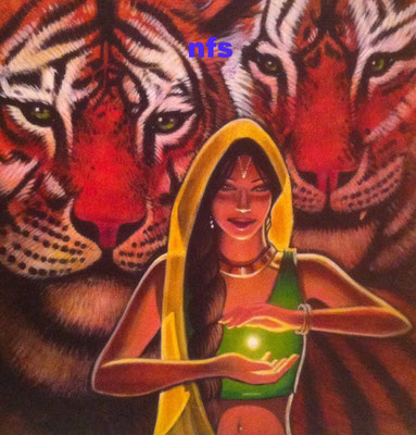 Durga and Her Tigers/Not for sale