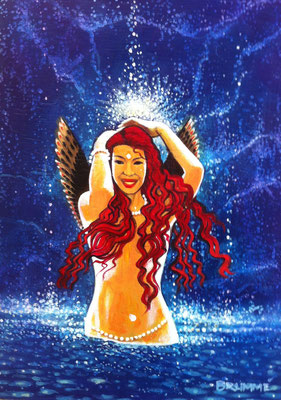 Water Dancer: Forgiveness is a Shower / 15 x 12 / Acrylic on Panel / $1,500