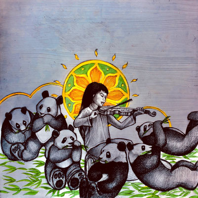 The Panda Goddess Plays Violin/ $1,500
