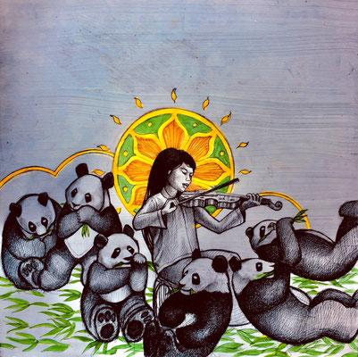 The Panda Goddess Plays Violin/ $1,500