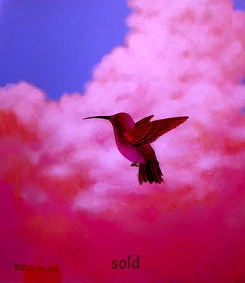 The Cloud Humming Bird/ $1,500/ Sold