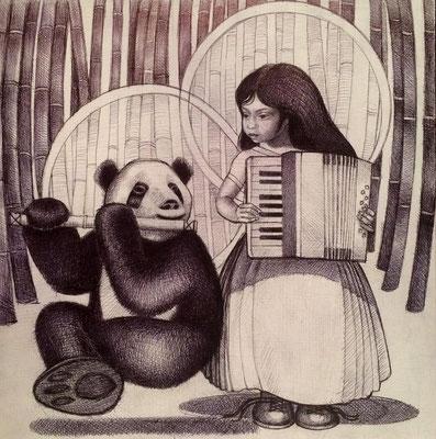 The Panda Goddess Plays Accordion/ $1,500