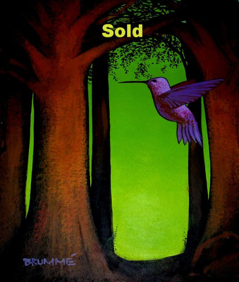 The Purple Humming Bird/ $1,500/ sold