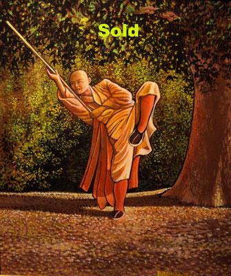 Shaolin Practicing Gun/ sold