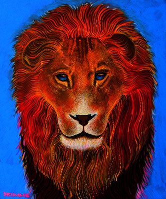 The Blue Lion / 24 x 30 / Acrylic on Canvas / $2,000