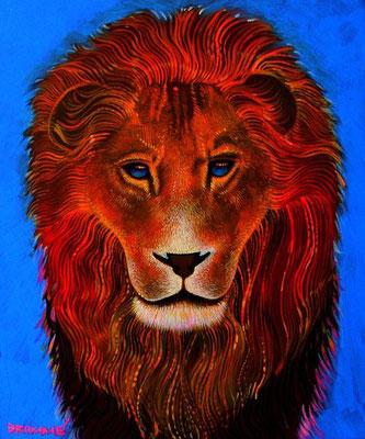 The Blue Lion / 24 x 30 / Acrylic on Canvas / $3,000