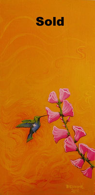 The Humming Bird Greets the Flowers/ gift
