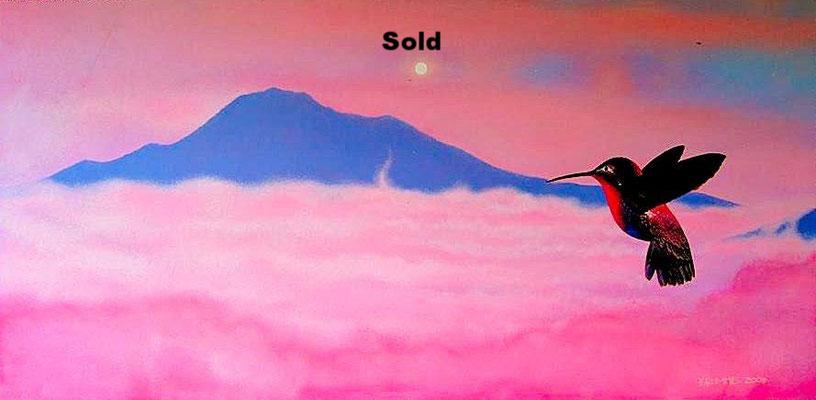 Mount Tamalpias talks to the Morning Humming Bird/ Not For Sale