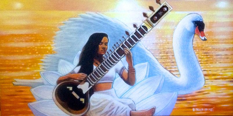Saraswati: the goddess of creativity/ NFS