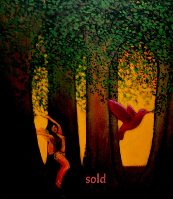 The Humming Bird and the Dancer/ $1,500/ sold
