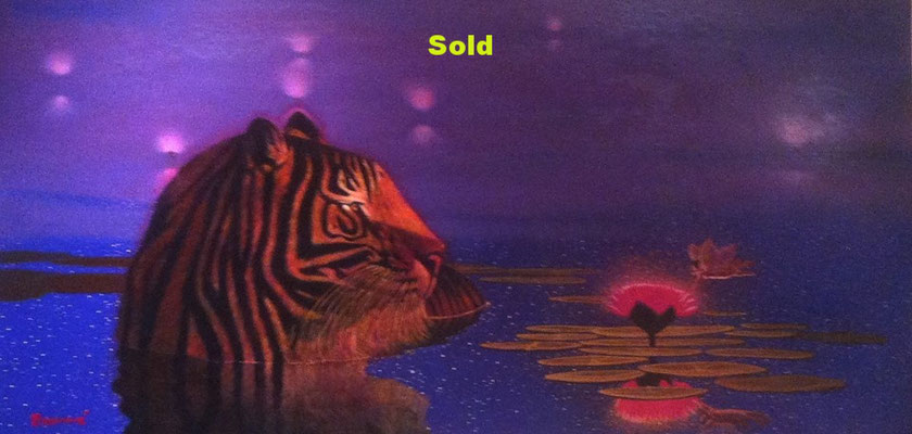 The Tiger meets the Mother and Child/ Sold
