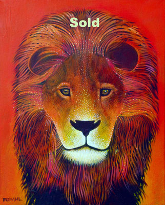 The Orange Lion/ Sold
