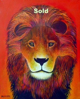 The Orange Lion/ Sold