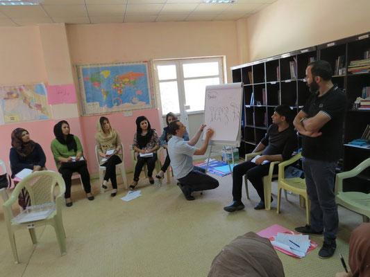 Formation d'instituteurs et travailleurs sociaux, Darbanhikhan, Irak