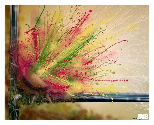 """""""Frühlingserwachen"""" - Jan-Malte Strijek - Acryl-Mischtechnik auf Leinwand - 100 x 80 cm - 2009 - verkauft"""