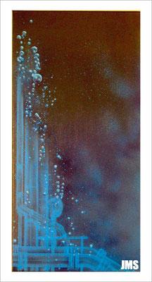 """""""Blasen - Hypothek"""" - Jan-Malte Strijek - Acryl-Mischtechnik auf Leinwand - 40 x 80 cm - 2009 - verkauft"""