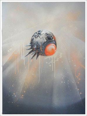 """""""Individuum- Zeitpunktbetrachtung"""" - Jan-Malte Strijek - Acryl-Mischtechnik auf Leinwand - 80x60cm, 2016"""