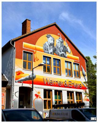 Fassadengestaltung des Kulturzentrums Faust in Hannover - Linden