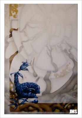 """""""Wachstum"""" - Jan-Malte Strijek - Acryl-Mischtechnik auf Leinwand - 80 x 120 cm - 2005"""