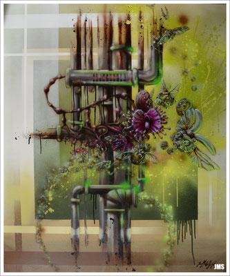"""Sonnentau"" - Jan-Malte Strijek - Acryl-Mischtechnik auf Leinwand - 100 x 120 cm - 2016"