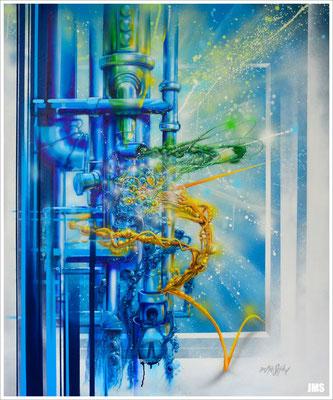 """Crossing Cultural Borders"" - Jan-Malte Strijek - Acryl-Mischtechnik auf Leinwand - 100 x 120 cm - 2015"
