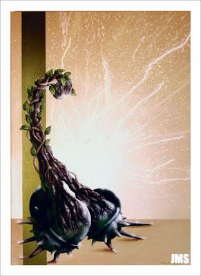 """""""Miteinander"""" - Jan-Malte Strijek - Acryl-Mischtechnik auf Leinwand - 60 x 80 cm - 2009 - verkauft"""