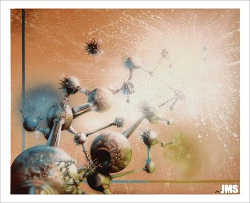 """""""Beziehungsgeflecht"""" - Jan-Malte Strijek - Acryl-Mischtechnik auf Leinwand - 100 x 80 cm -2009"""
