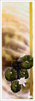 """""""Treiben III"""" - Jan-Malte Strijek - Acryl-Mischtechnik auf Leinwand - 40 x 80 cm - 2009 - verkauft"""