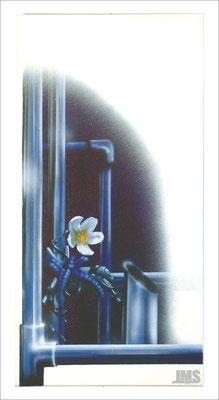 """Nachtblume"" - Jan-Malte Strijek - Acryl-Mischtechnik auf Leinwand - 40 x 80 cm - 2006 - verkauft"