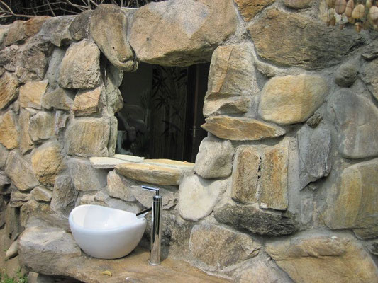 Outdoor Bathroom of Luxury Chalet