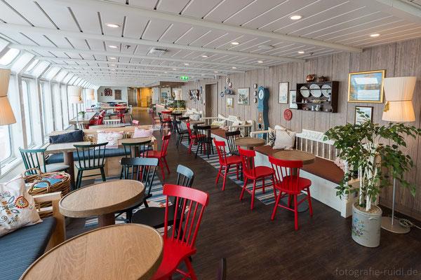 Restaurant auf der MS Nordkapp