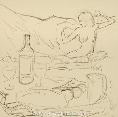 Diner sur l'Herbe (Drawing)