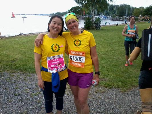 Beim Bodensee Frauenlauf über 5 km....