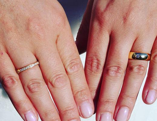 Alliance Ring in Gelbgold mit 36 Diamanten (0.505ct)