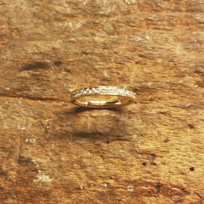 Alliance Ring in Gelbgold 750 mit 36 Diamanten (0.505ct.)