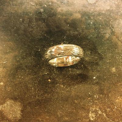 Ring in Silber 925 mit drei Diamanten