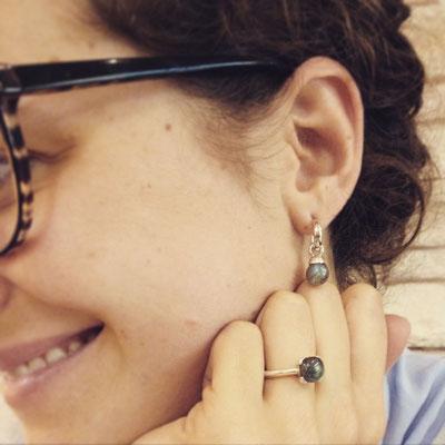 Sonjettis Ring in Silber 925 mit Labradorit