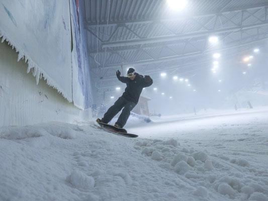 Testruns, wefunk Baccaruda Carbon, Skihalle Neuss, 2017