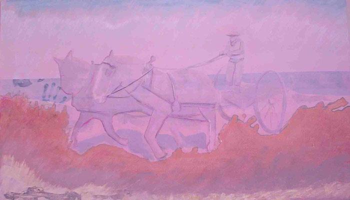Reata 200 x 150 Tecnica mixta sobre tabla. Obra seleccionada en el certamen Miradas a Juan Gil-Albert 2004.