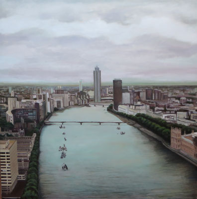 London-Thames. Oleo sobre lienzo 120 x 120