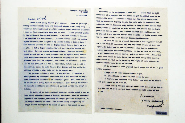 Gandhis Brief an Adolf Hitler