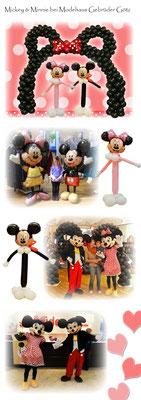 Mickey und Minnie bei Modehaus Gebrüder Götz
