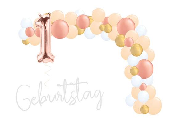 DIY-Set zum Selbstdekorieren Ballon Luftballon Girlande Geburtstag
