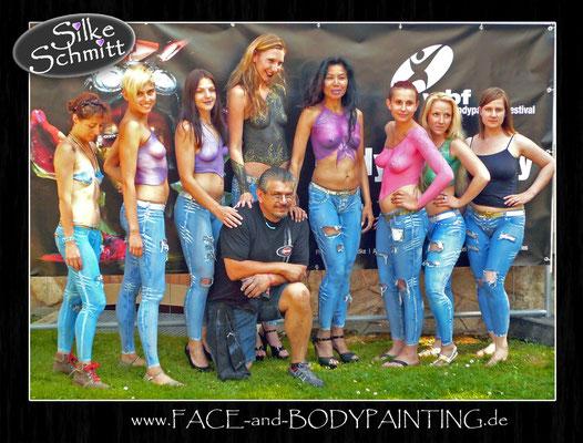 Weiterbildung beim World Bodypainting Festival in Pörtschach am Wörthersee: Jeans-Workshop mit Mark Reid