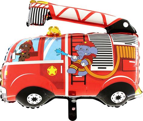 Feuerwehr Feuerwehrauto Luftballon Ballon Folienballon Geschenk Junge Geburtstag Geburtstagsparty Feier Überraschung Helium Versand Kindergeburtstag