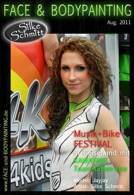 Musik + Bike-FESTIVAL Geiselwind mit KAWASAKI Team-Green-Live 2011